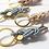 Thumbnail: AHOI! Schlüsselanhänger-SET Leder & 925 SILBER Partneranhänger