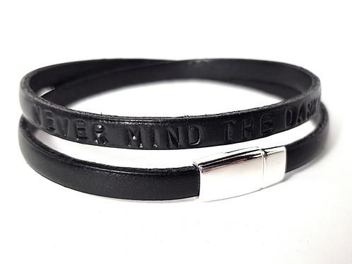 Leder Armband mit Wunschtext Namensarmband
