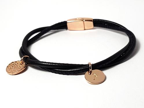 MyLOVE! Armband Leder & 925 SILBER rosévergoldet