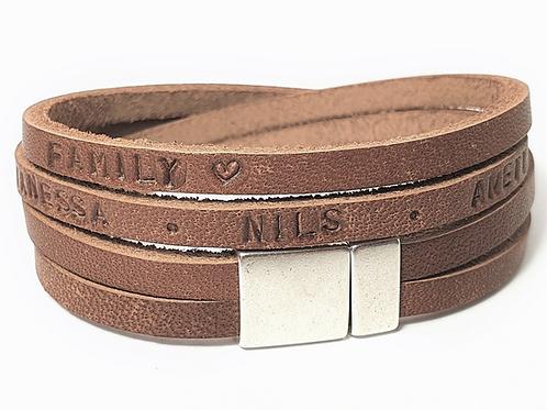 Leder Armband Herren Namensarmband