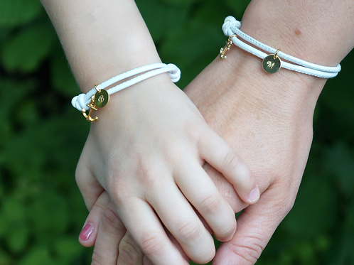 AHOI! Armband SET Leder & 925 SILBER Partnerarmbänder