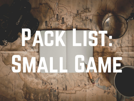 Small Game Hunting Packing List