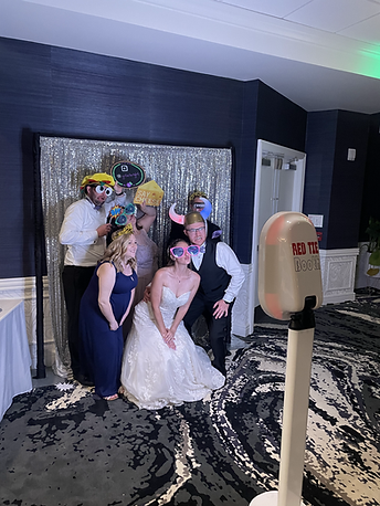 red tie entertainment photo booth
