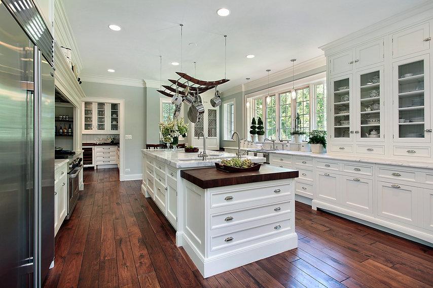 Kitchen design, white kitchen cabinets, crystal kennedy, kitchen designer, portland, oregon, white kitchen, wood countertop, marble countertop