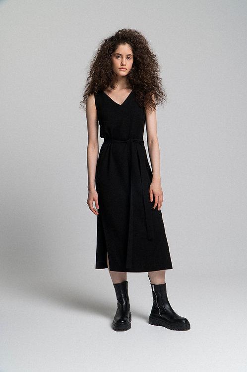 Платье свободного силуэта из вискозы