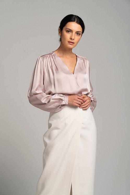 Блуза на запахе из вискозы