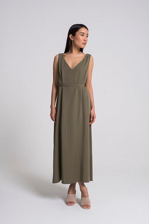 Платье свободного силуэта из лиоцелла