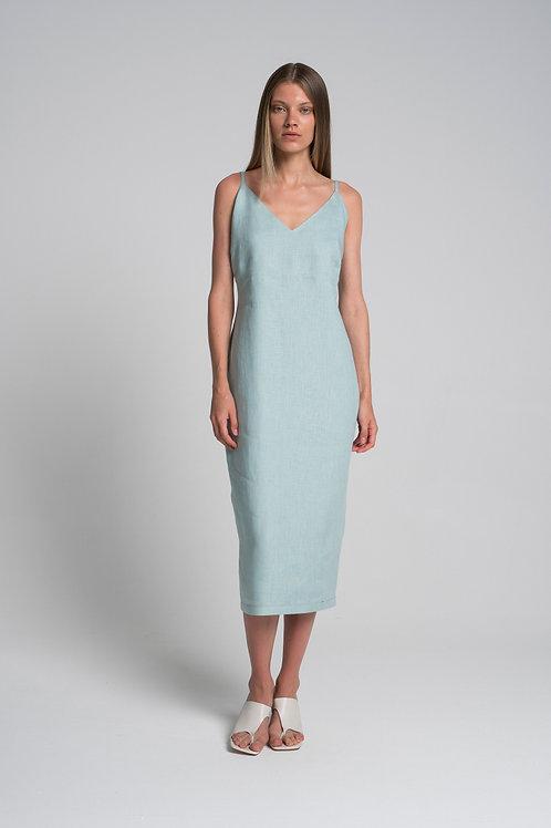 Платье-комбинация изо льна