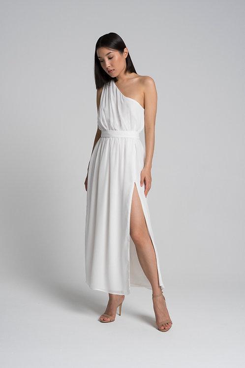 Шифоновое платье с разрезом