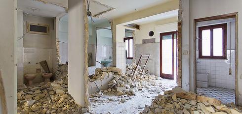 Bathroom and basement interior demolition job