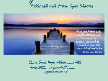 Public talk with Swami Gyan Dharma