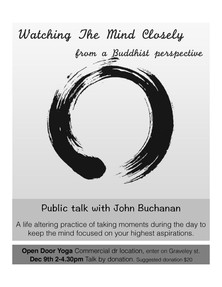 Workshop: Watching the Mind Closely