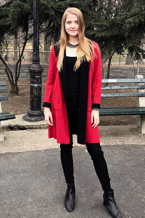 Reversible Red/Black Coat