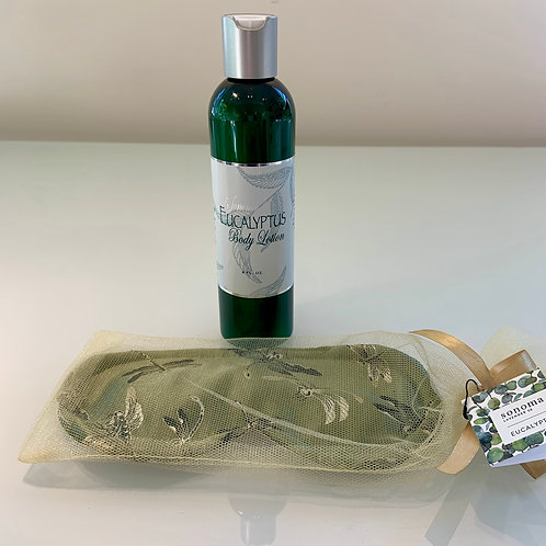 Eucalyptus Body Lotion and Sleep Mask
