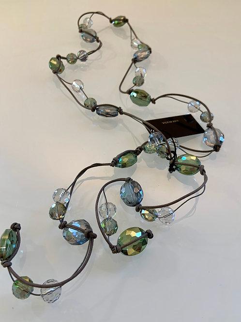 Crystal Lariat - Smoky Green