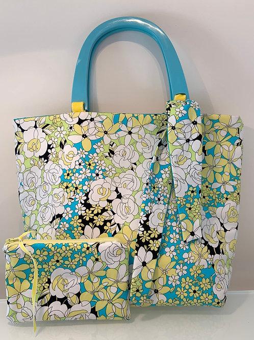 Floral Purse with Pouch Set