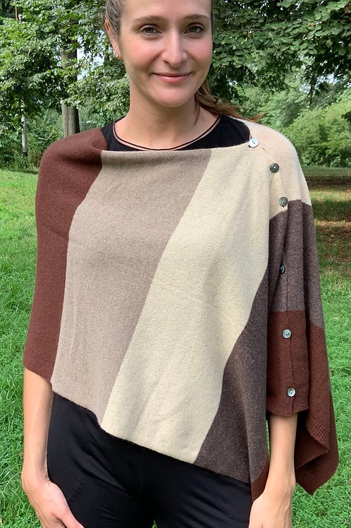 Brown Multi Cashmere Topper
