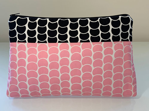 Handmade Pink and Black Clutch