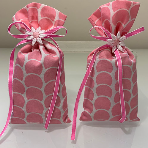 Pink Set of Lavender Sachets