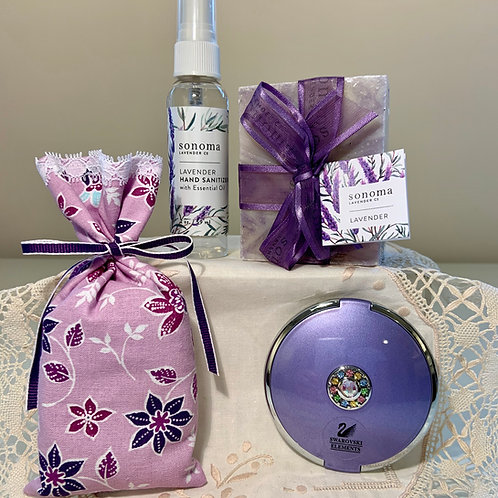 Lavender Gift Set With Swarovski Mirror