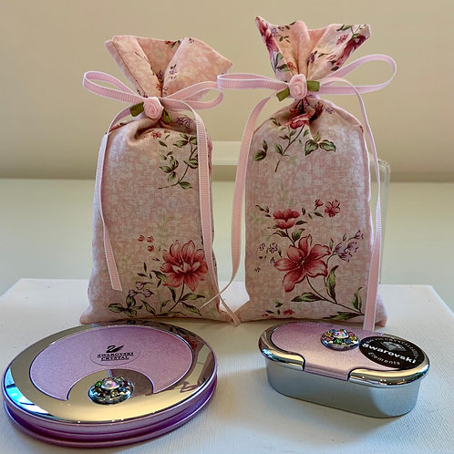 Pink Swarovski Gift Set