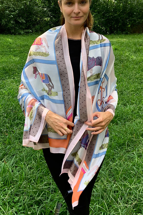 Large Silk Scarf/ Wrap