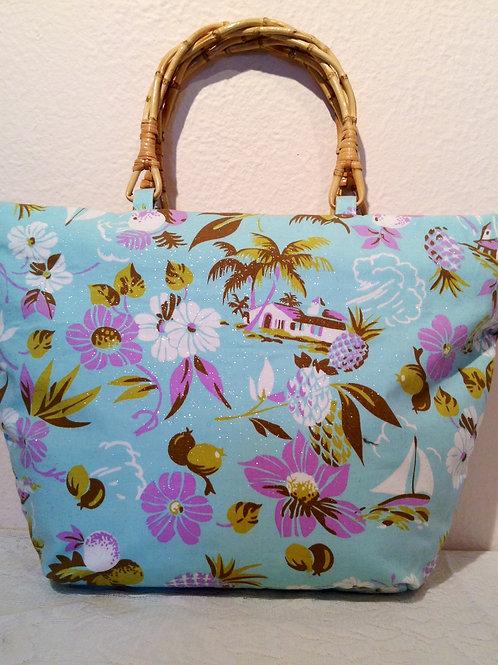 Handmade Blue Pineapple Bag