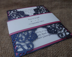 Rustic Chic Navy and Pink