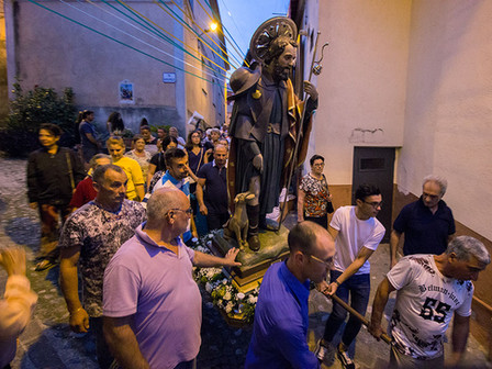 Traditional celebration of the patron saint of Grisolia in Calabria.