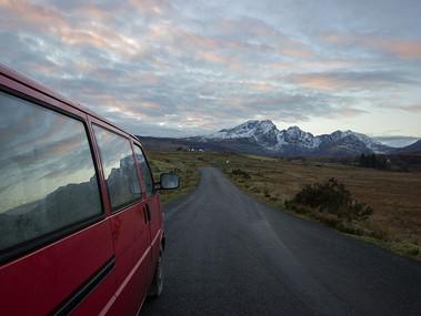 Isle of Skye on the road.