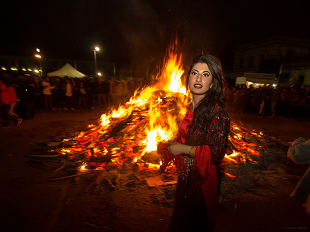 The traditional Kurdish celebration of Newroz held in Rome.