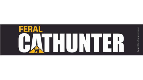 cat hunter bumper sticker-free postage