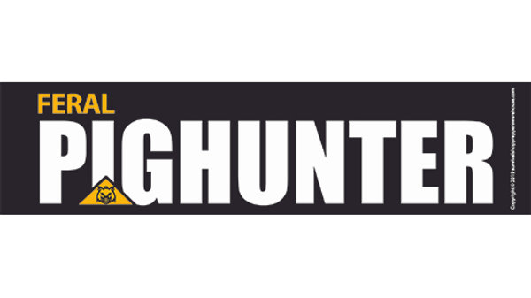 pig hunter bumper sticker-free postage