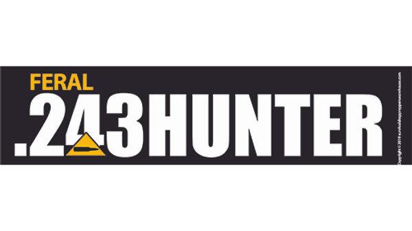 .243 hunter bumper sticker- free postage