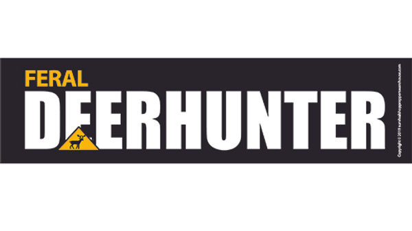 deer hunter bumper sticker-free postage