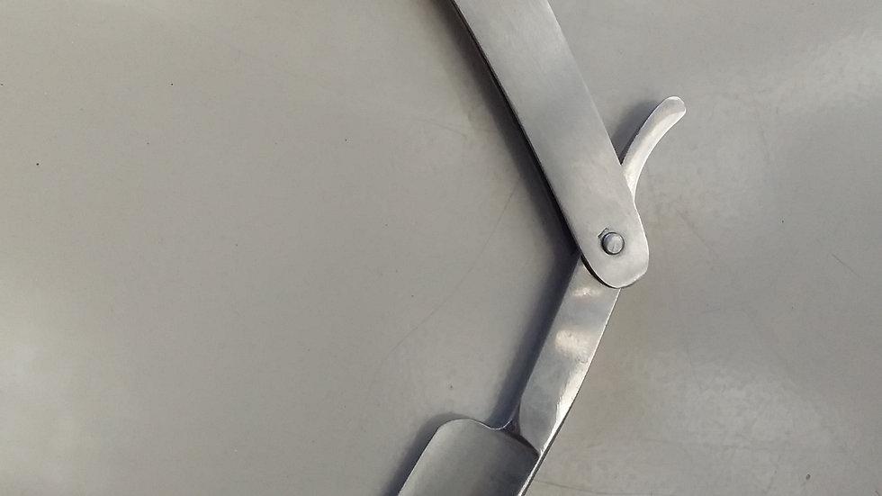 Stainless steel cut throat razor