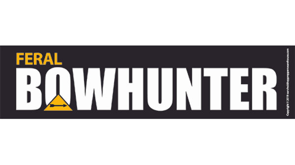 bow hunter bumper sticker- free postage