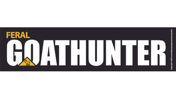 goat hunter bumper sticker-free postage