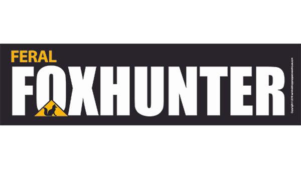 fox hunter bumper sticker-free postage