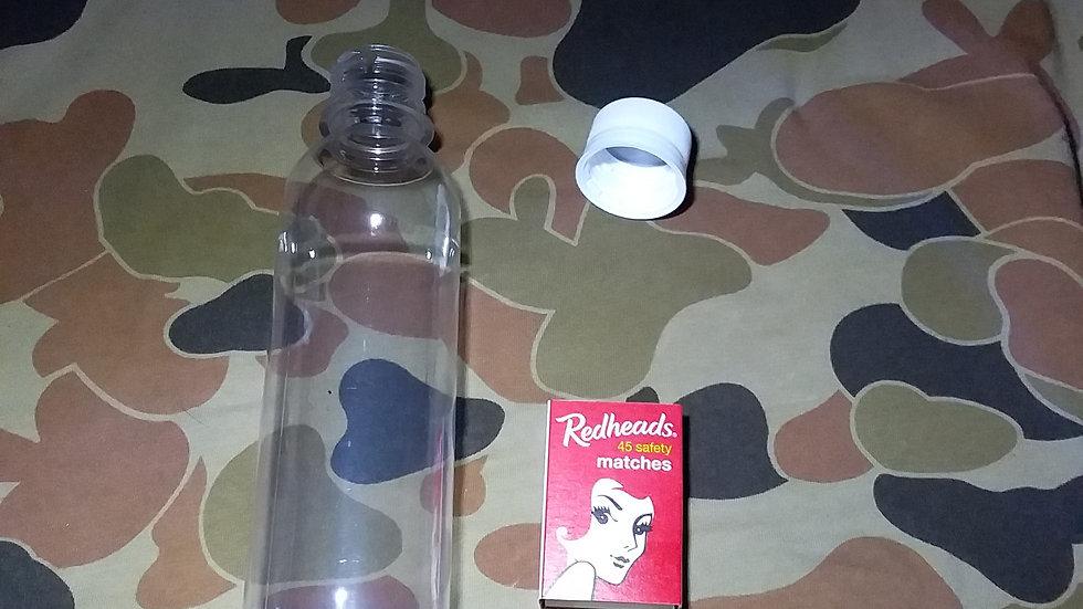 12 geo cache bottles+lids free postage