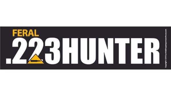 .223 hunter bumper sticker-free postage