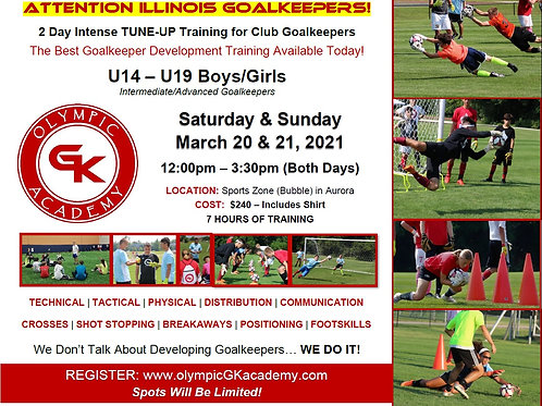 2 Day Tune-Up GK Camp - Illinois 2021