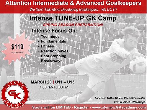 3 Hour Tune-Up GK Camp for U11-U13
