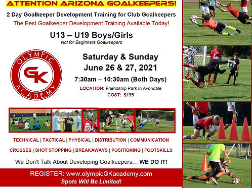 2 Day GK Camp - Arizona