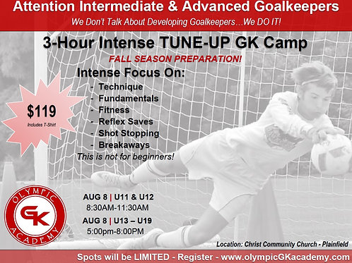 3-Hour Tune-Up Camp 2021