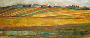 שדות על רקע כפרי