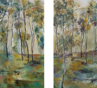 בין ענפי העץ – צמד תמונות