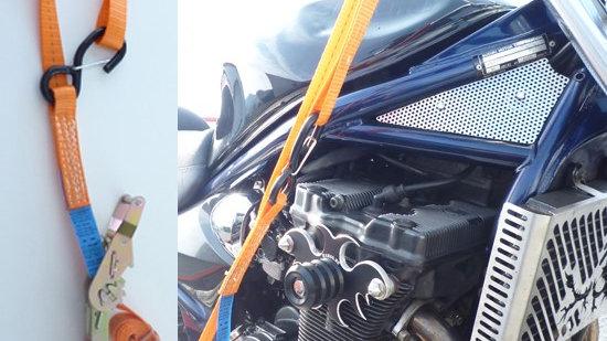 Motorradtransportgurt mit Einhängeschlaufe