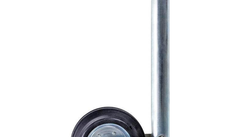 Stützrad 48mm Metall-Felge mit Vollgummi-Reifen