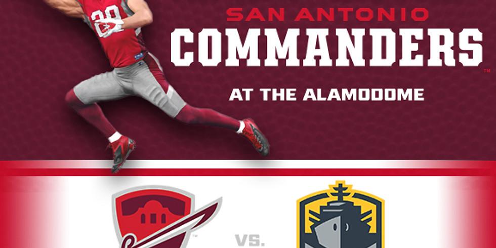 National Anthem for San Antonio Commanders